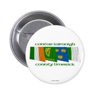 County Limerick Flags Pinback Buttons