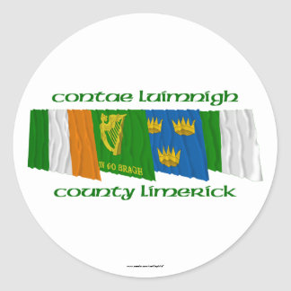 County Limerick Flags Classic Round Sticker