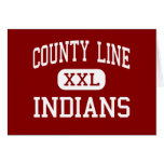 County Line - Indians - High - Branch Arkansas Greeting Cards