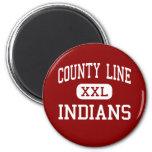 County Line - Indians - High - Branch Arkansas Refrigerator Magnet