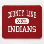 County Line - Indians - High - Branch Arkansas Mouse Mat