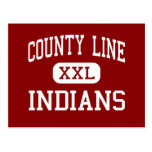 County Line - Indians - High - Branch Arkansas Post Card