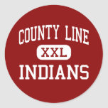 County Line - Indians - High - Branch Arkansas Stickers