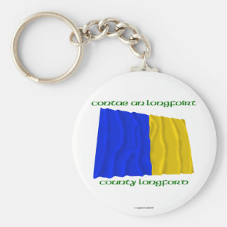 County Longford Colours Basic Round Button Keychain