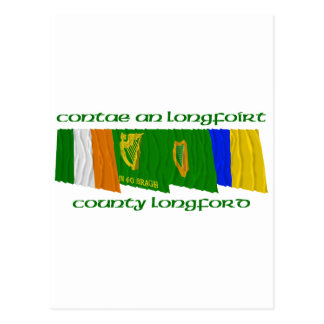 County Longford Flags Postcard