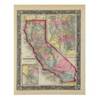 County Map Of California Poster
