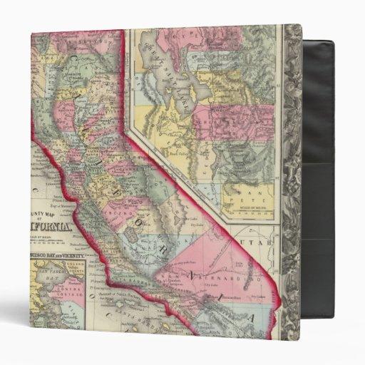 County Map Of California Vinyl Binder