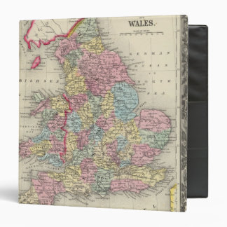 County Map Of England, And Wales 3 Ring Binders