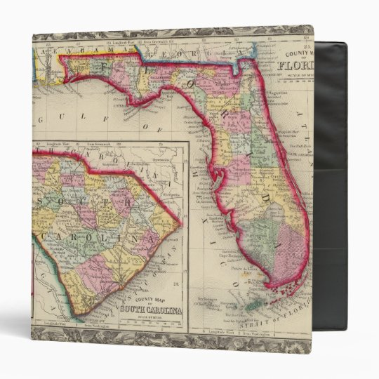 County Map Of Florida Binder