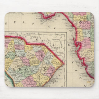 County Map Of Florida Mouse Pad