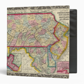 County Map Of Pennsylvania, New Jersey 3 Ring Binder