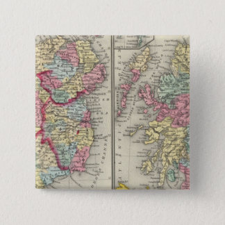 County Map Of Scotland Pinback Button