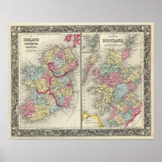 County Map Of Scotland Print