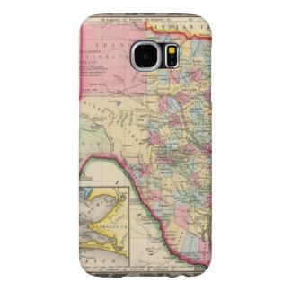 County Map Of Texas Samsung Galaxy S6 Case