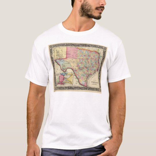 County Map Of Texas T-Shirt