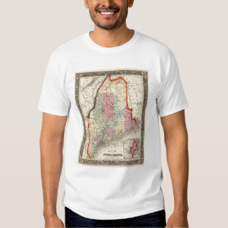County Map Of The State Of Maine T-Shirt