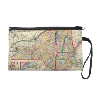 County Map Of The States Of New York Wristlet Clutch