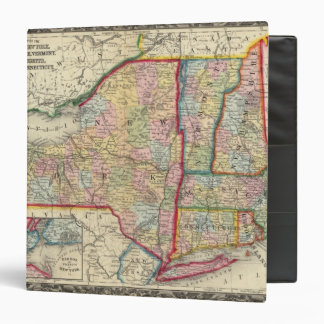 County Map Of The States Of New York Binder
