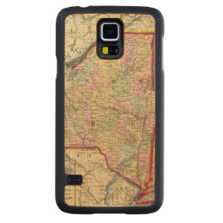 County Map Of The States Of New York Carved® Maple Galaxy S5 Case