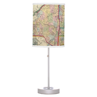 County Map Of The States Of New York Desk Lamp
