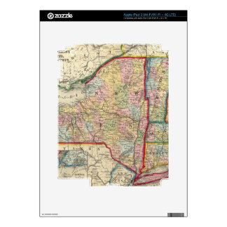 County Map Of The States Of New York iPad 3 Decals