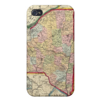 County Map Of The States Of New York iPhone 4/4S Cover