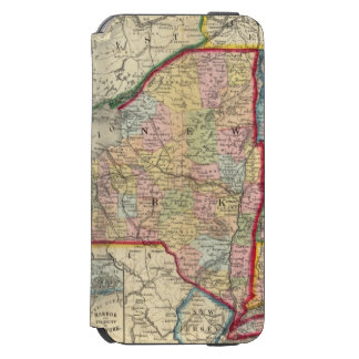 County Map Of The States Of New York iPhone 6/6s Wallet Case