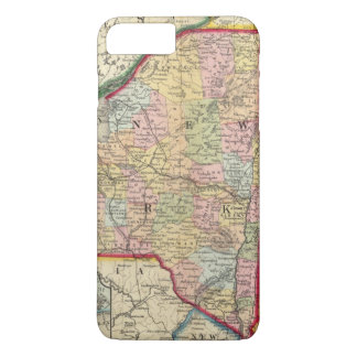 County Map Of The States Of New York iPhone 8 Plus/7 Plus Case