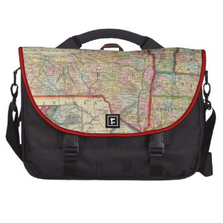 County Map Of The States Of New York Laptop Messenger Bag