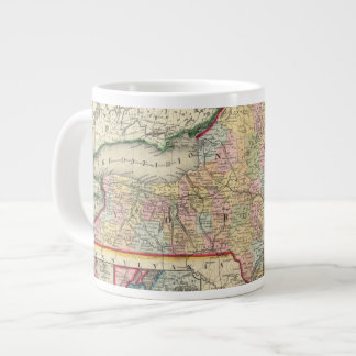County Map Of The States Of New York Large Coffee Mug