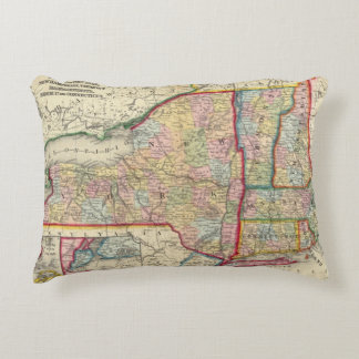 County Map Of The States Of New York Accent Pillow