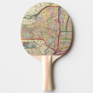 County Map Of The States Of New York Ping-Pong Paddle