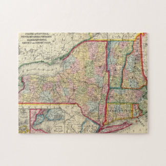County Map Of The States Of New York Puzzles