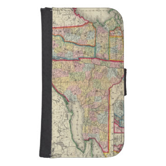 County Map Of The States Of New York Samsung S4 Wallet Case