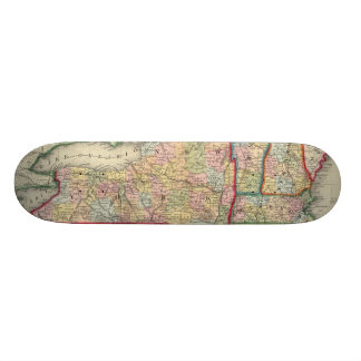 County Map Of The States Of New York Skateboard