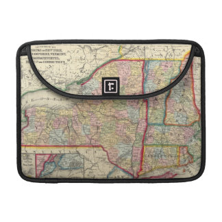 County Map Of The States Of New York Sleeve For MacBook Pro