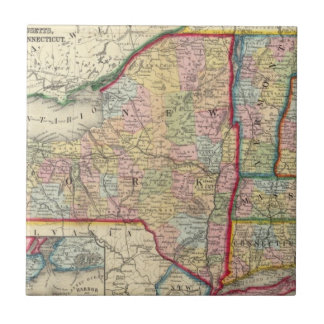County Map Of The States Of New York Small Square Tile