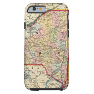 County Map Of The States Of New York Tough iPhone 6 Case