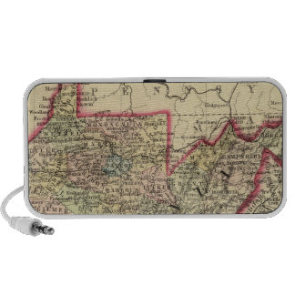 County map West Virginia Mp3 Speakers