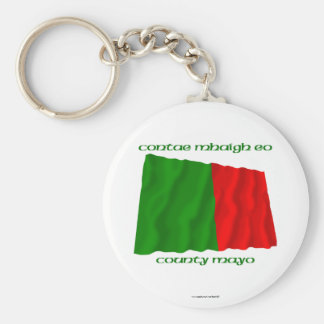 County Mayo Colours Basic Round Button Keychain