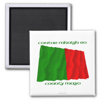 County Mayo Colours 2 Inch Square Magnet