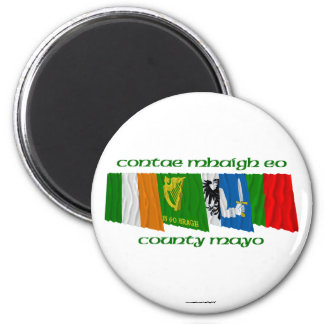 County Mayo Flags 2 Inch Round Magnet