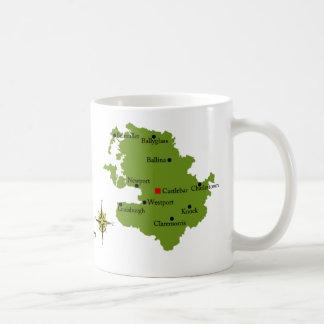 County Mayo Map & Crest Mugs