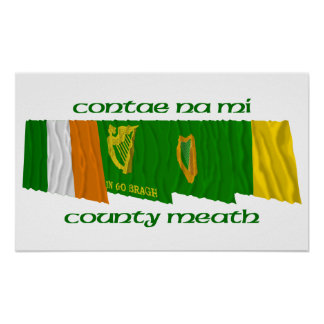 County Meath Flags Poster