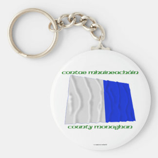 County Monaghan Colours Basic Round Button Keychain
