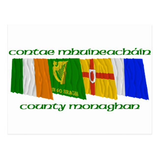 County Monaghan Flags Post Cards