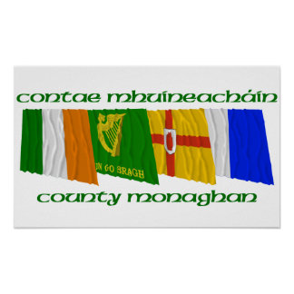 County Monaghan Flags Poster
