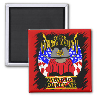 County Mounty 2 Inch Square Magnet