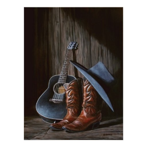 "County Music ""Boots"" Poster"