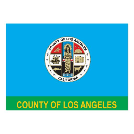 County of Los Angeles flag Business Cards Pack